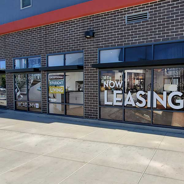 For Lease Graphic windows