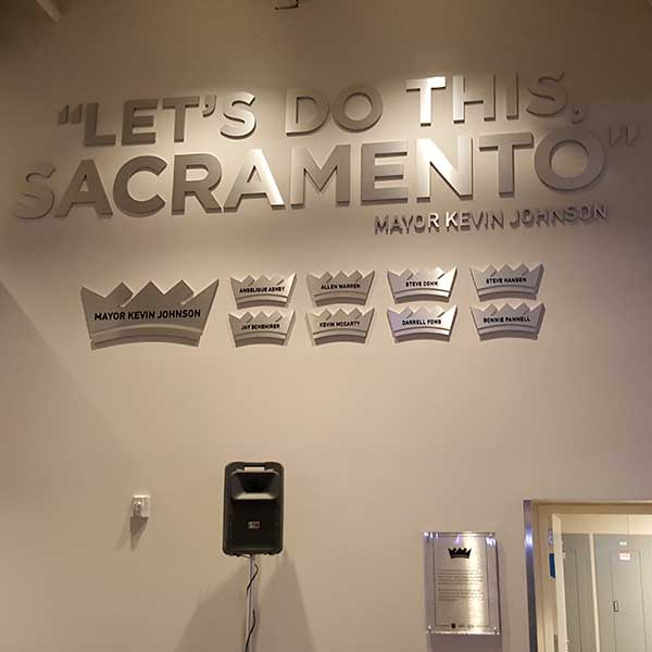BRUSHED METAL SIGNS SACRAMENTO, CA