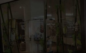 clear film graphic installation